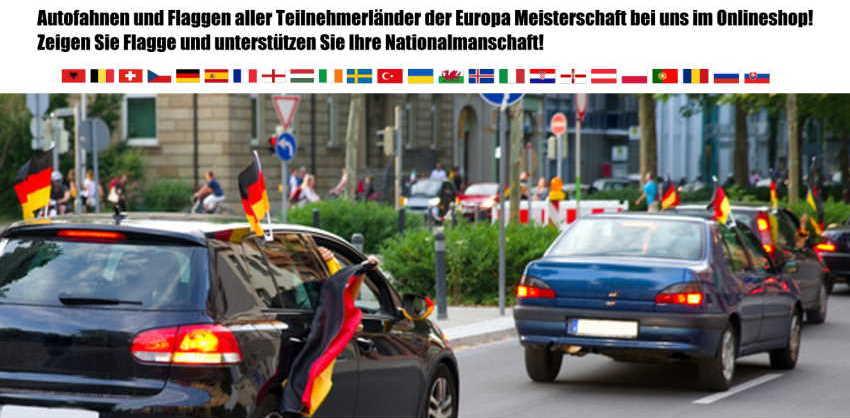 Autofahnen - Autoflaggen kaufen