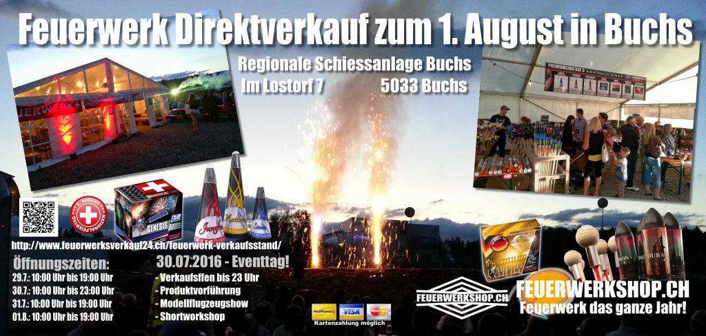 1. August Feuerwerkverkauf in der Schweiz