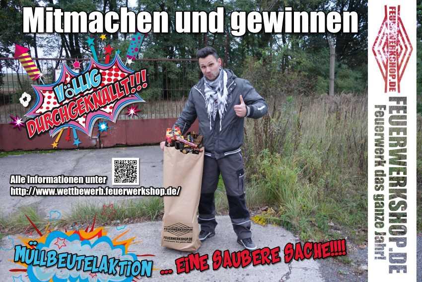 Feuerwerkshop Müllbeutelaktion!