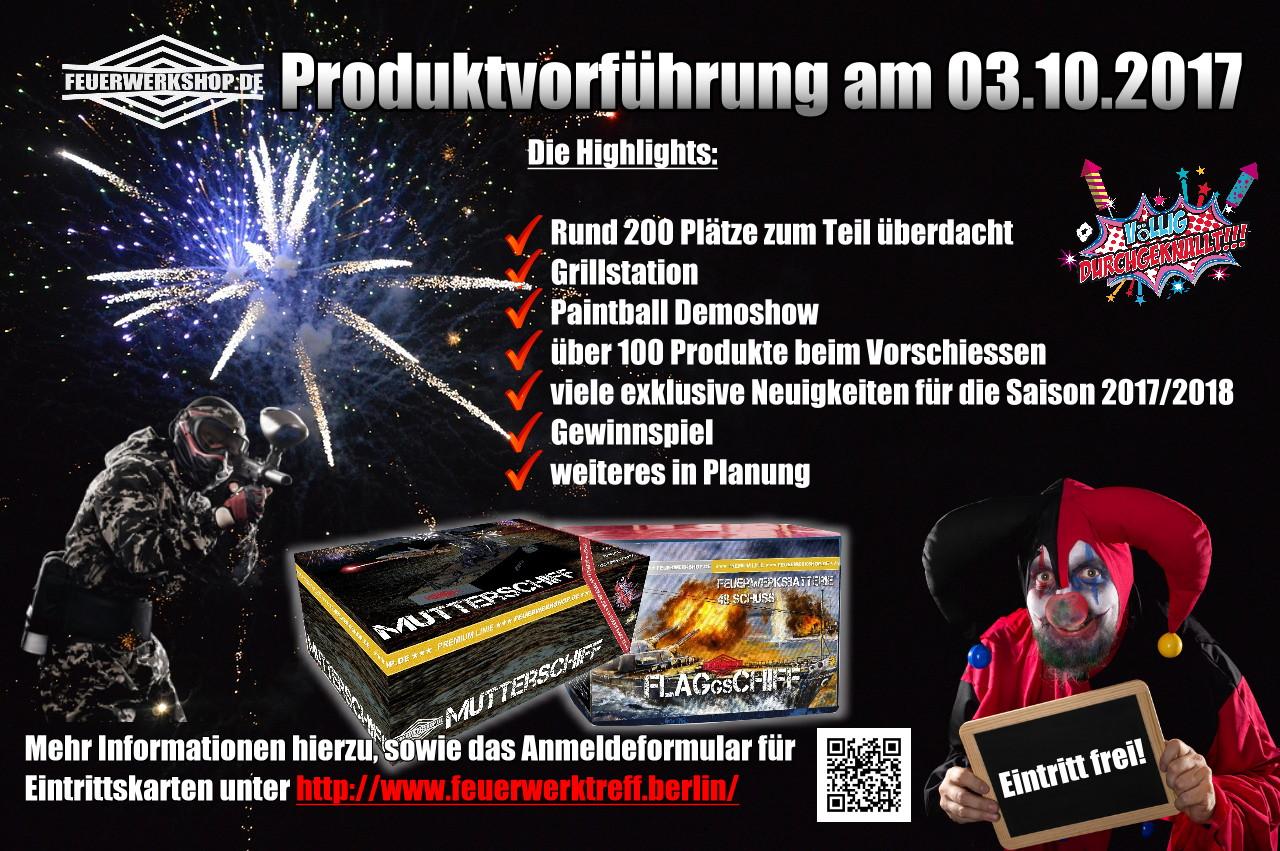 Feuerwerkshop Produktvorführung