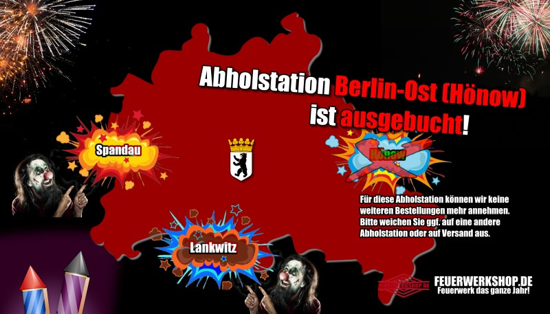 Wichtiger Hinweis: Die Abholstation in Berlin-Ost ist für dieses Jahr komplett ausgebucht. Wir können keine weiteren Bestellung hierfür mehr annehmen.