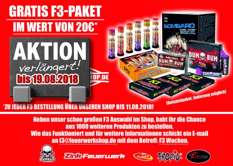 F3 Aktion bei feuerwerkshop.de