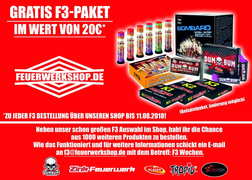 F3 Aktionswochen bei feuerwerkshop.de