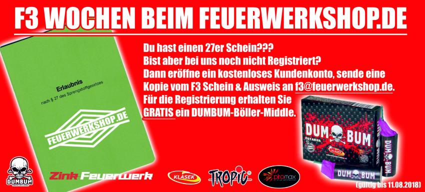 Die F3 Wochen bei feuerwerkshop.de