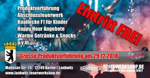 Produktvorführung un d Eventtag bei feuerwerkshop.de