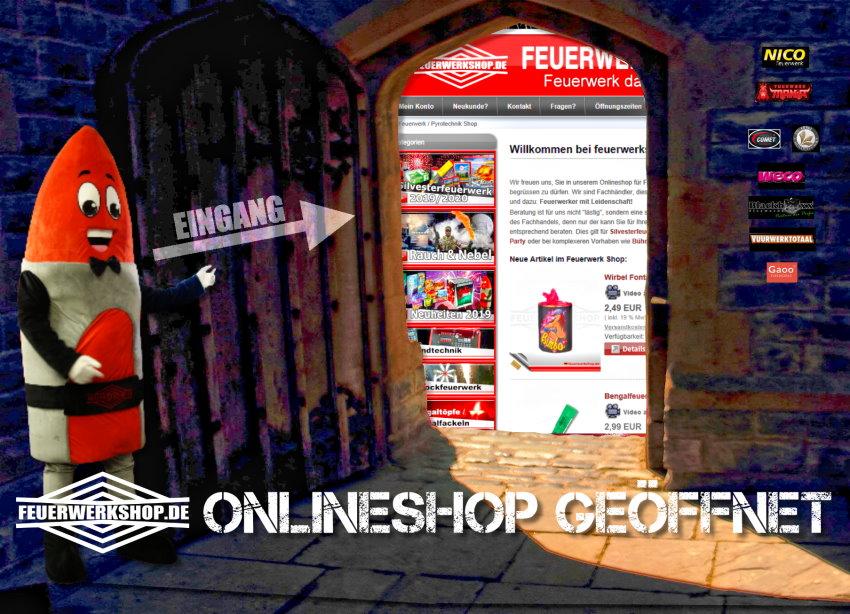 Feuerwerkshop Onlineshop geöffnet