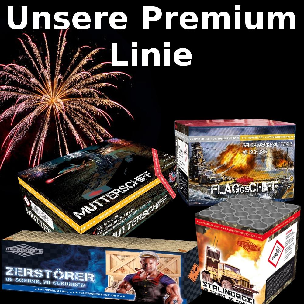 Feuerwerkshop Premium Linie - exklusives Feuerwerk vom Profi Pyrotechniker