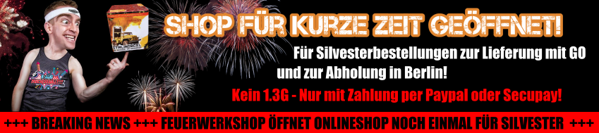Feuerwerkshop: Jetzt für kurze Zeit noch für Silvester geöffnet!