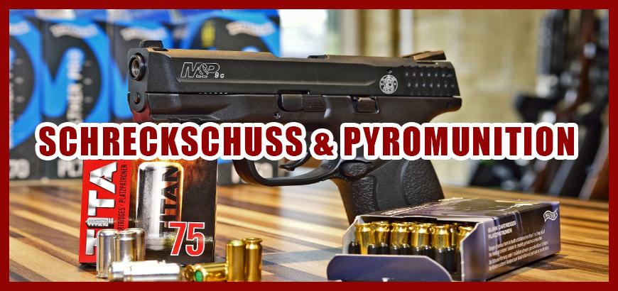 Ab sofort Neu: Pyrotechnische Munition + Platzpatronen kaufen